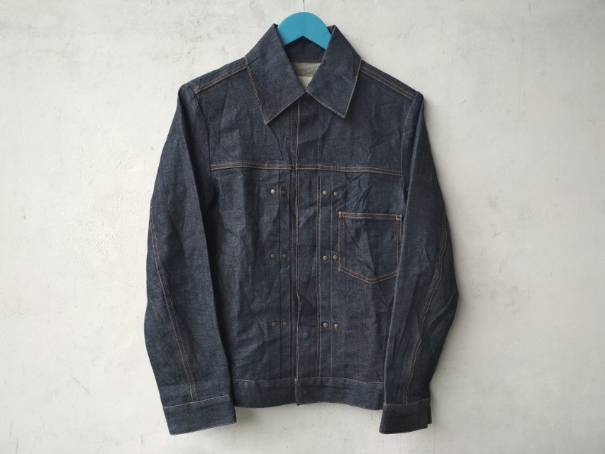 Jaket Jeans / Trucker Jeans tag H.A.K made in Japan