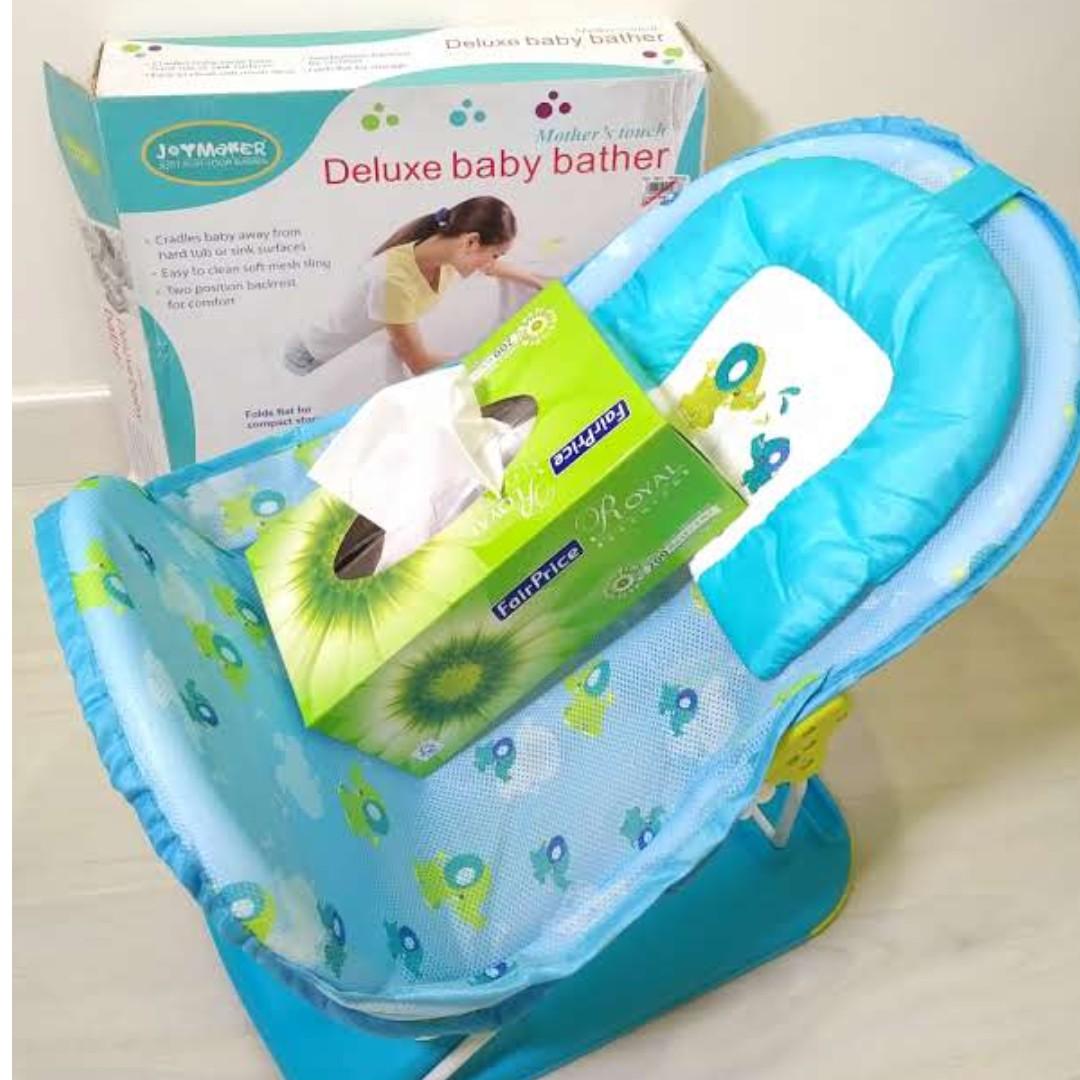 Joymaker Deluxe Baby Bather chair Blue, unused, Babies & Kids ...