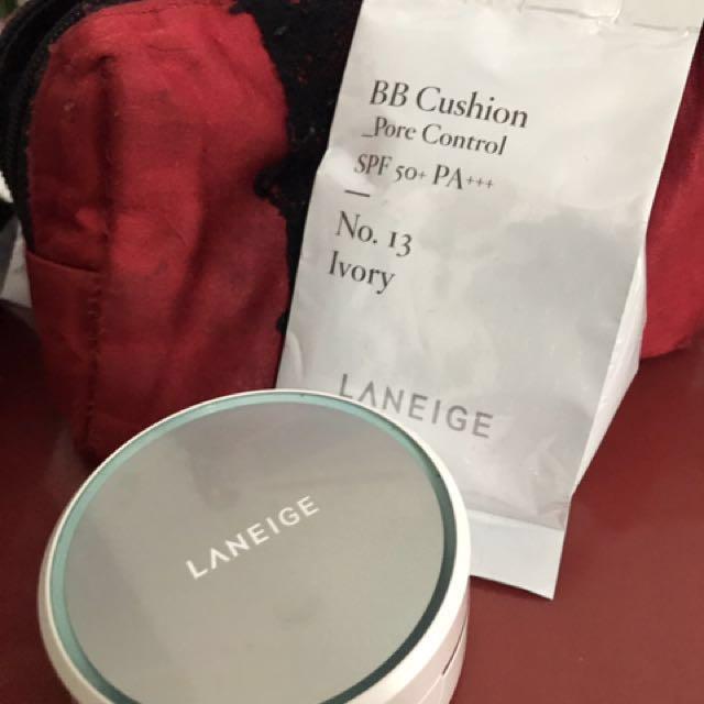 蘭芝Lanegie BB霜氣墊粉餅 水感亮白 13號色 9成新
