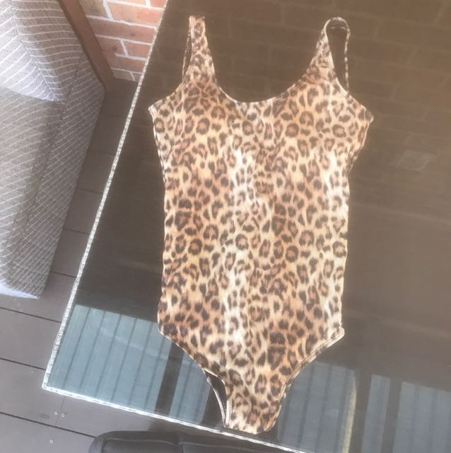 Leopard Print One Piece swimmers