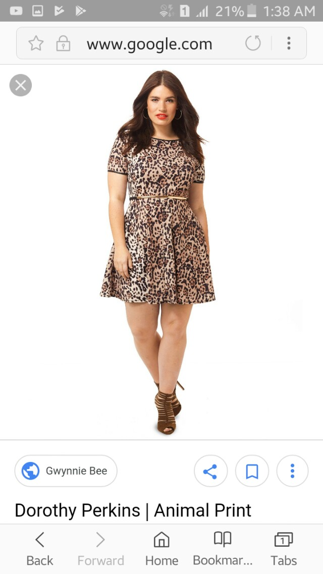 Leopard skater dress
