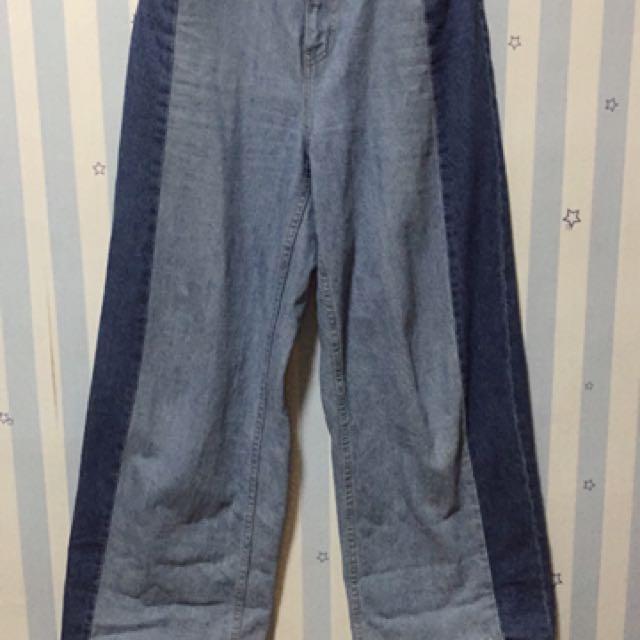 Lowrys Farm 拼接牛仔寬褲