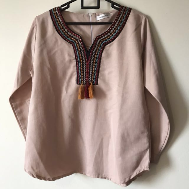 MayOutfit pink blouse