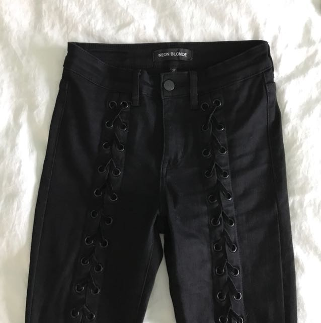 Mendocino Lace Up Pants/Denim