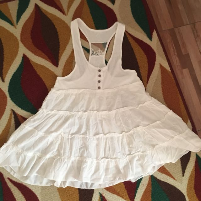 Mini Dress White Putih Flare