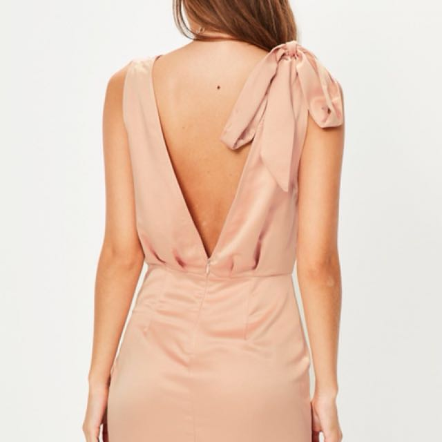Missguided Wrap Tie Front Dress