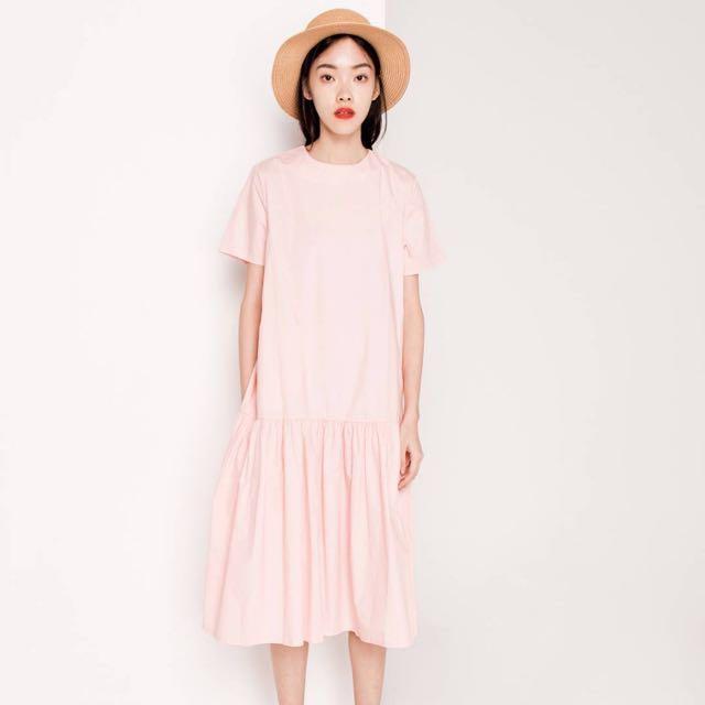 Modparade QUEENDOM Gella Drop Waist Dress in Pink