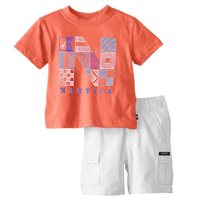 Nautica Printed Tee with Shorts
