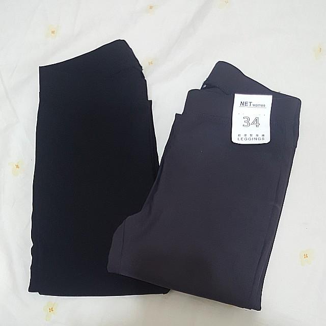 NET 全新 原價249 34號 黑 灰 緊身褲 小腳褲