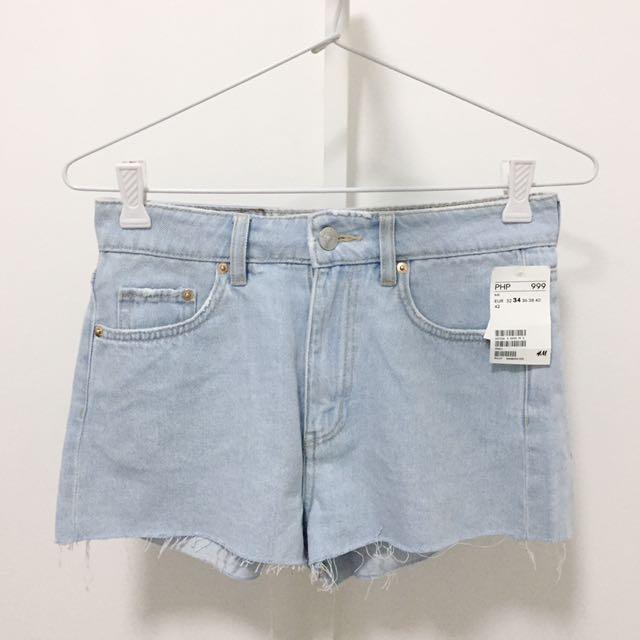 NEW! H&M Denim High Waisted Shorts