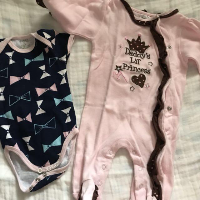 Newborn romper and sleepsuit
