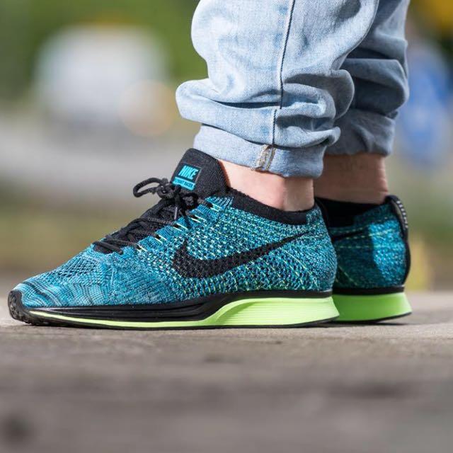 483d3203ca25 Nike flyknit racer blue lagoon