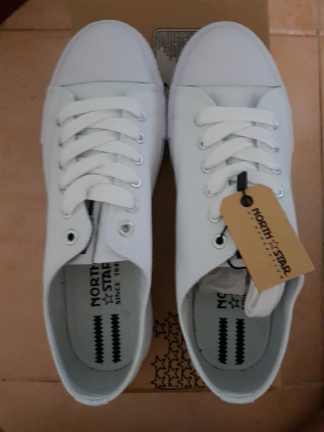 BNIB North Star White School Shoes