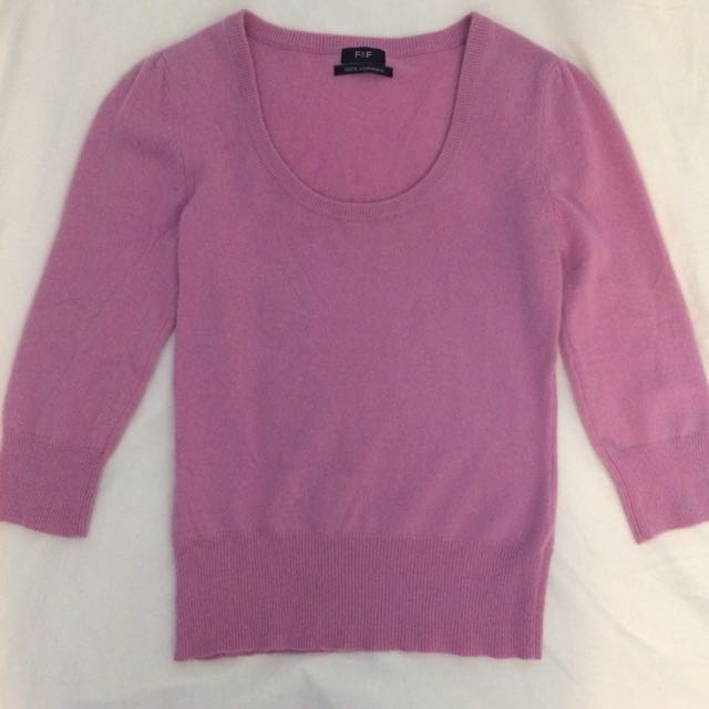 Pink Cashmere Sweater - small