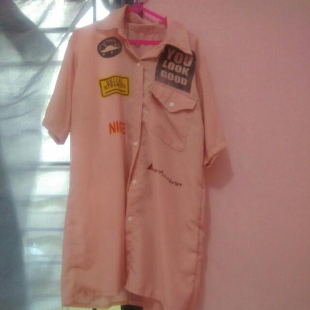 Pink shirt dress reprice