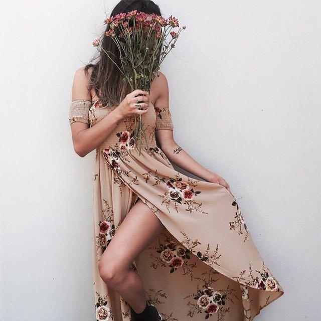 (+postage)Summer Off Shoulder Dress