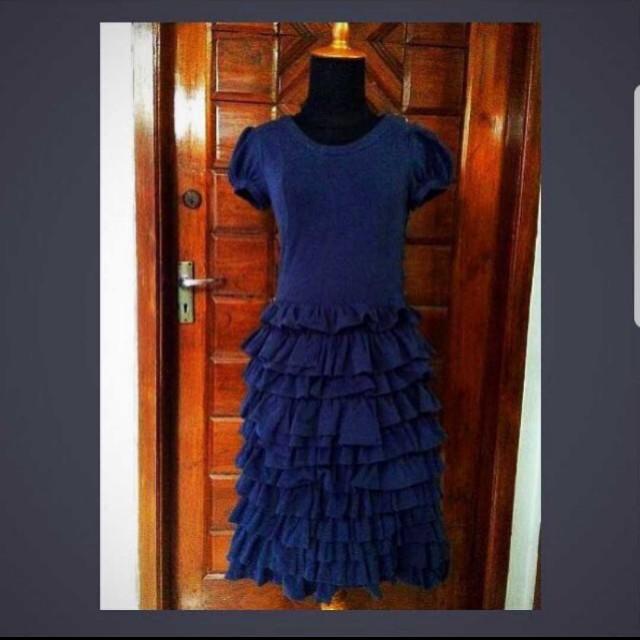 Preloved XSML Navy Blue Dress