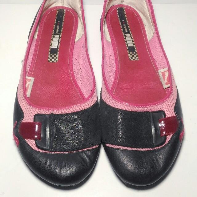 PUMA I love driving Women Black Flats Shoes Slip On