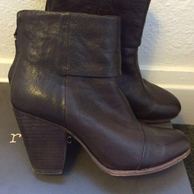 Rag and Bone Newbury brown leather boots 36.5