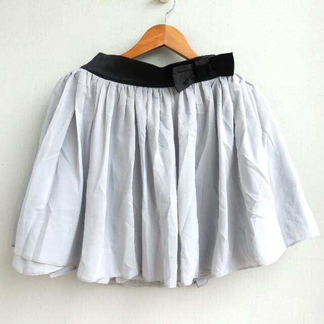 Ruffle Grey Skirt
