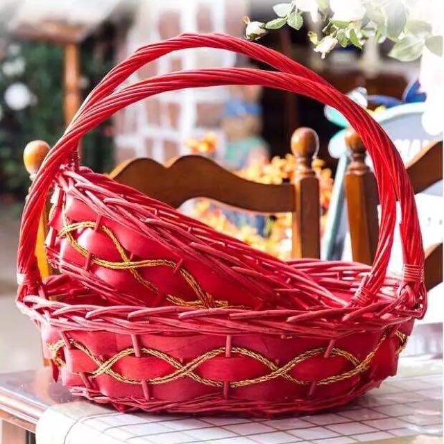 [Sellabrations] Simple Guo Da Li Red Basket Rental