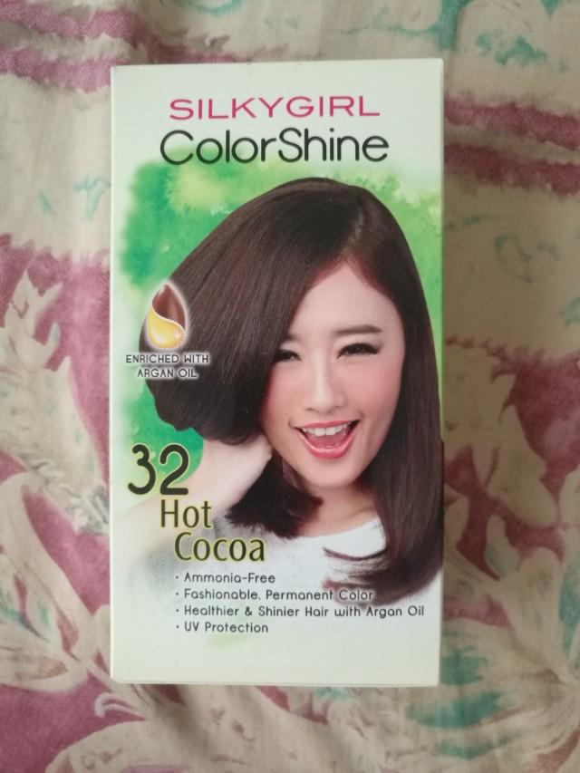 Cny88 Silkygirl Colorshine Hair Color 32 Hot Cocoa Brown Health