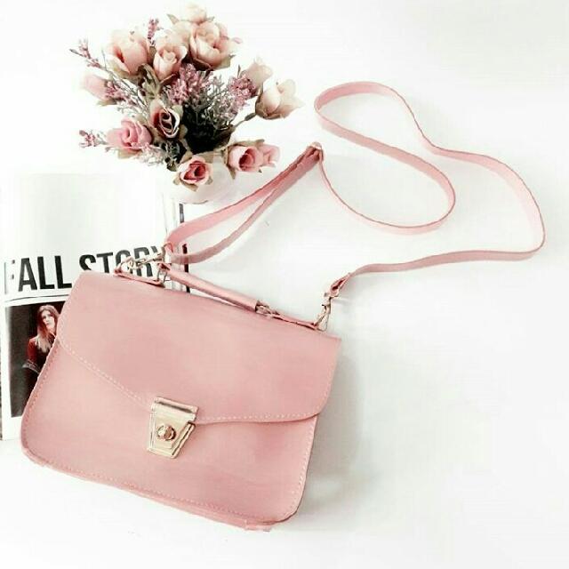 Sling Bag Jelly Putar Pink Tas Wanita MURAH