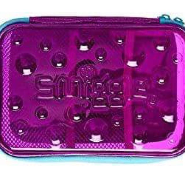 Smiggle Pencil Case I-Spy Hardtop Transparent-Purple