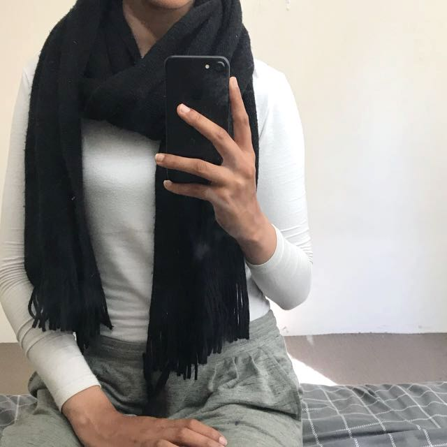 Soft black scarf