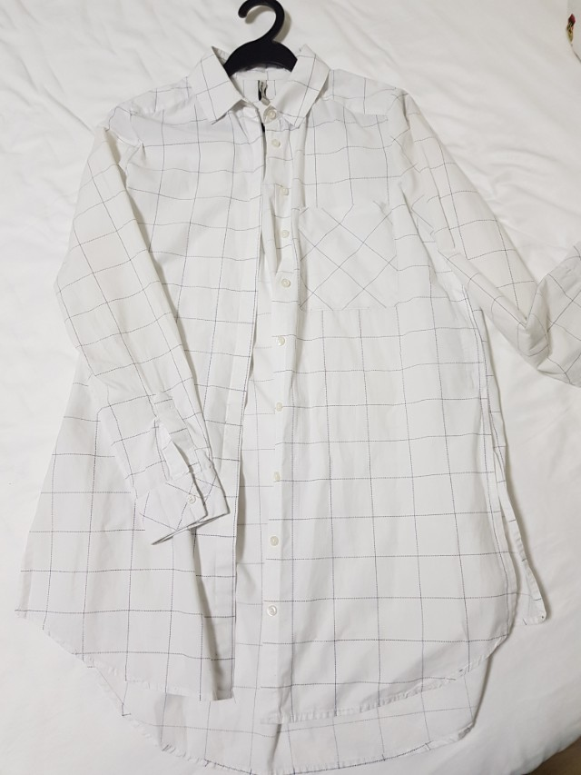 be6cc850e8d Stradivarius white shirt dress