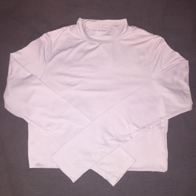 Supre Long-sleeve Crop Top