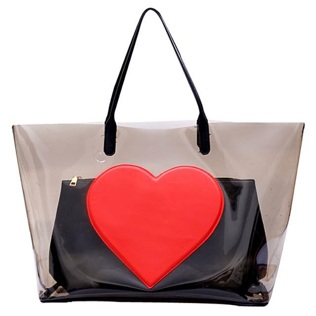 Transparent Large Tote Bag