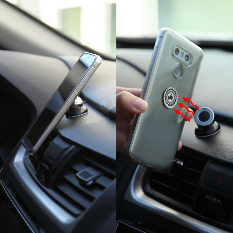 Universal 360° Magnetic Car Mount Stick On Dashboard Holder Mobile Cell Phone