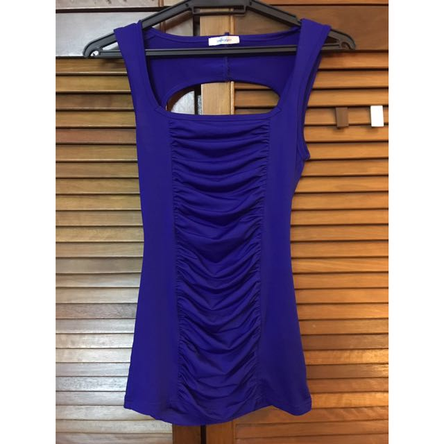 Valleygirl electric blue top