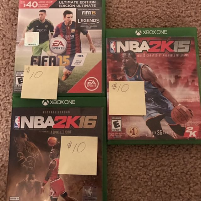 Various Xbox One video games
