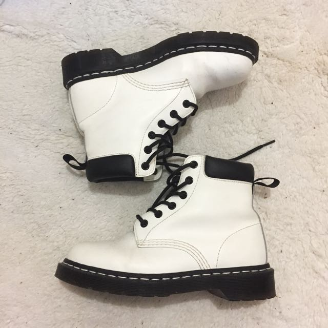 White and Black Doc Martens