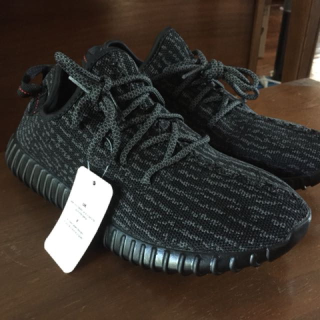 Yeezy 350 Boost Men's Size 7 Pirate Black New