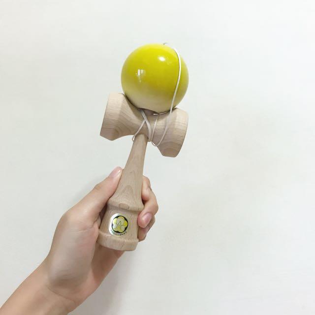 YUMU KENDAMA 比賽檢定專用 競技型黃色 #雙十一大出清