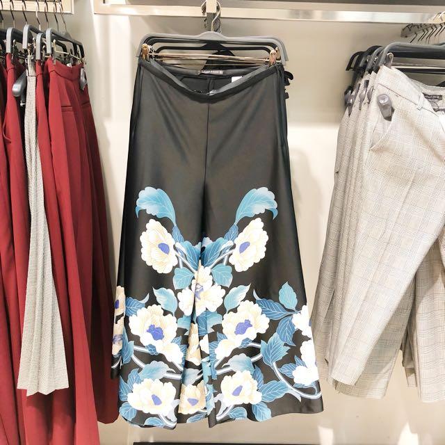 Zara Look Alike Flower Long Pants || celana panjang zara celana kulot panjang celana panjang murah celana panjang fashion long pants long pants black celana panjang hitam celana hitam