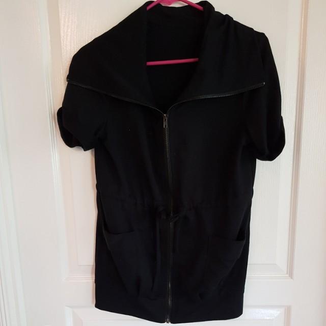 Zip up black jacket