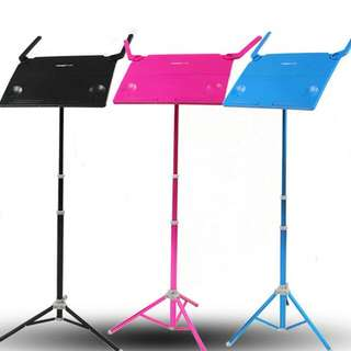 New Design Aluminium Music Stand Heavy Duty Menu stand show stand for shops book stand laptop computer stand event Light