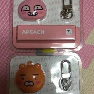 韓國kakao friends t-money ryan/apeach 連頸帶
