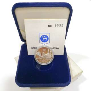 1987 30th Anniversary of Independence 10 Ringgit Proof coin set-With original box and COA