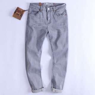 FRANK'S歐美特進-RIFF ROCK 復古 美式 灰色 刷舊 水洗 偏厚 彈性 礦工風格 牛仔褲 工作褲 休閒褲