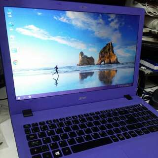 Acer 15吋紫色手提電腦E5-532 ,128Gssd ,4Gram