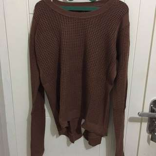 THE EXECUTIVE BROWN SWEATER