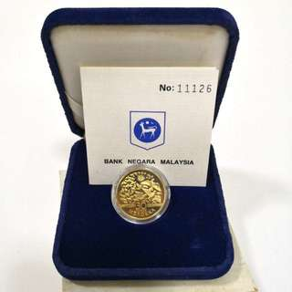 1987 30th Anniversary of independence 1 Ringgit Proof coin set-With original box and COA