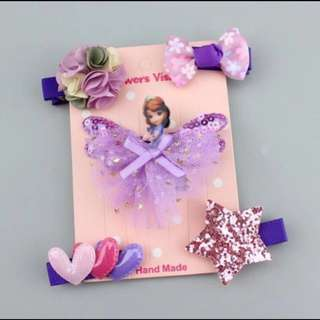Purple princess hair pin