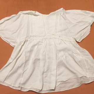 (全新含運)百搭寬鬆版白罩衫