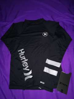"""HURLEY Boy's L/S Fitted Rashguard """"Icon"""" - 10A - S"""
